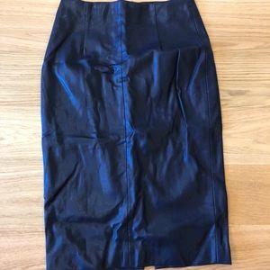 zara vegan leather pencil skirt